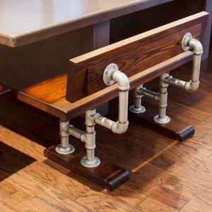 GH58004- Ghế chân ống nước cách điệu