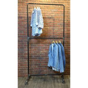 KQA58003- Kệ quần áo đơn 2 tầng ống nước