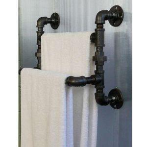 KTD58007 Giá treo ống nước cách điệu đôi (rộng 45cm)