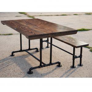 SBG58001 - Set bàn ghế gỗ chân ống nước