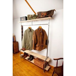 KQA58014- Kệ quần áo ống nước 3 tầng cách điệu