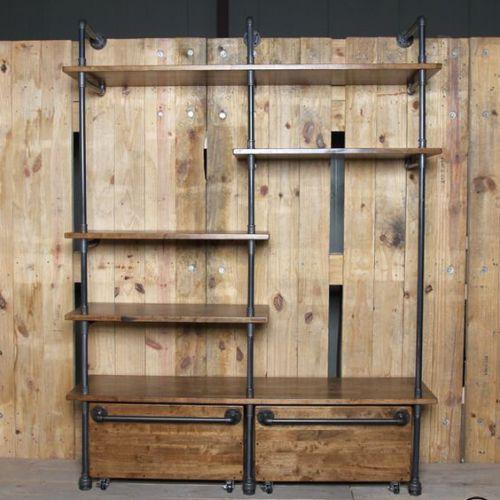 KQA58002- Kệ tủ quần áo ống nước đa năng