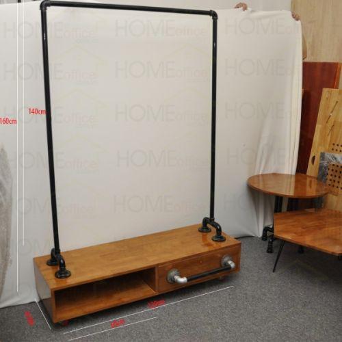 KQA68006- Tủ kệ treo đồ ống nước (160cmx120cmx40cm)